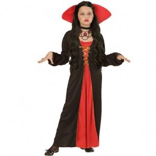 Vampir Kostüm 128 140 158 Vampirin VICTORIAN VAMPIRESS Kinder Kleid Barock Hexe