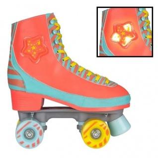 Girls / Kinder Rollschuhe Skates mit LED Licht Skater von Gr. 31 bis 40 orange