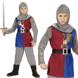 RITTER Prinz Löwenherz Kinder Jungen Kostüm Karneval Fasching NEU 128 140 158J