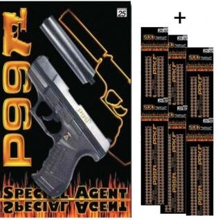 AGENT ROCKY Knall-Pistole mit 3000 Schuß Munition Kinder Spielzeug Revolver