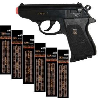 Special Agent P99 Knall-Pistole mit 1200 Schuss Munition Kinder Spielzeug Colt