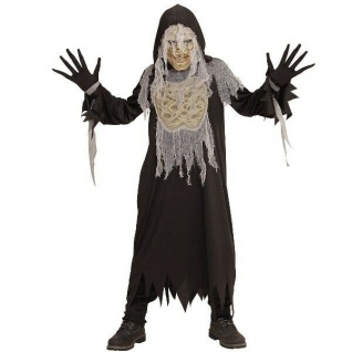 Mumien Mumie Kinder Kostüm & Maske Halloween Karneval Umhang Zombie Jungen #785