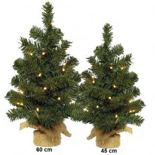 Weihnachtsbaum grün mit 20 LED / 10 LED künstliche Tanne Tannenbaum 60cm, 45cm