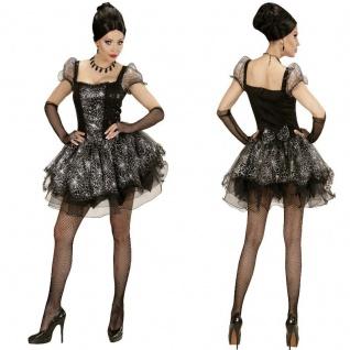 SPIDER LADY Schwarze Witwe Damen SPINNEN Kostüm S, M, L, XL Karneval Halloween