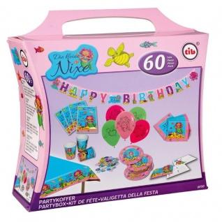 DIE KLEINE NIXE - 60 tlg. Party Koffer Geburtstag Set für Kinder Teller Becher