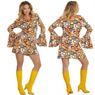 GROOVY GIRL DAMEN Kostüm Hippie 60er 70er Jahre Flower Power Babe Schlagermove