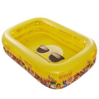 Happy People 16706 2-Ring Family Pool Emoji 262 cm x 175 cm x 50 cm - Vorschau