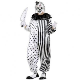 Kostüm Pierrot Killer Gr XL Clown Horrorclown OVERALL Halloween Psycho Horror