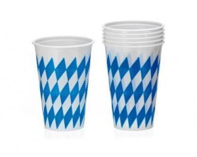 10er Pack Einweg Becher Oktoberfest Bayern Party Trinkbecher 0, 2 L