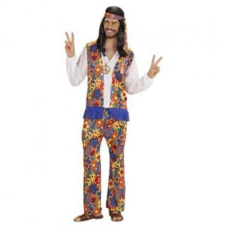 Herren Kostüm XL (54/56) Hippie Flower Power 70er 80er Karneval Schlagermove 25U
