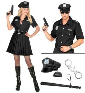 Kostüm POLIZIST POLIZISTIN Polizei Cop Uniform Partner Kostüm für Damen Herren
