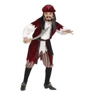 Kinder Kostüm Set Karibischer Pirat Größe 140 Fasching Party