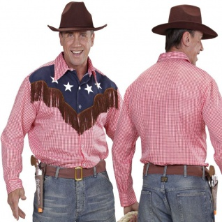 HEMD RODEO COWBOY 54-56 (XL) Western Herren Kostüm Karneval Fasching #1574