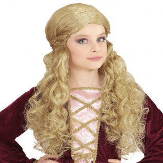 Mittelalter Perücke Damen blond mit geflochtenen Zöpfen Burgfräulein Perücke KK
