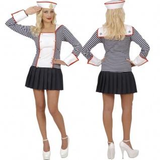 MATROSIN Sailor Girl Damen Kostüm Sexy Marine Matrose Kleid 34 36 38 40 42 44