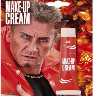 Make Up CREAM 28ml Tube ROT professionelle Karneval Theater Schminke Halloween