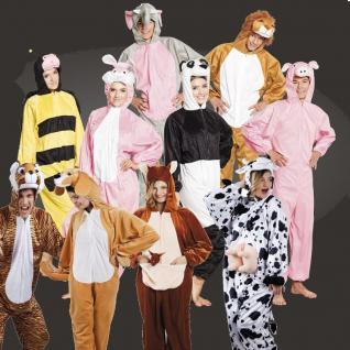 TIER KOSTÜM Plüsch Overall Jumpsuit für Damen Herren Kinder Unisex Karneval