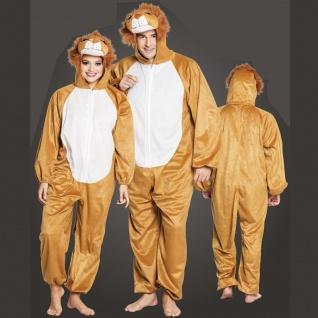 Löwe Lion Plüsch Kostüm - Overall Damen Herren Jumpsuit Junggesellenabschied