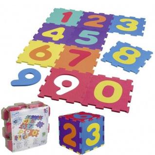 PUZZLEMATTE Zahlen Spielmatte Kinderteppich Spielteppich Teppich Happy People