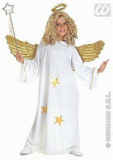 Star Engel Kinder Kostüm mit Heiligenschein Gr. 128 - Kleid Mädchen 3818
