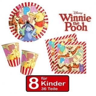 Party Set Winnie the Pooh II Teller Becher Servietten 8 Kinder Geburtstag 36 tlg