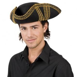 Piratenhut ROYAL FORTUNE Dreispitz Hut Pirat Fasching Historisches Kostüm 4039
