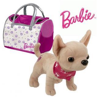 Plüsch Hund CHIHUAHUA MIT TASCHE Barbie Plüschtier 26 cm Stofftier Kuscheltier