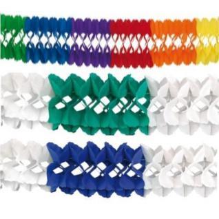 Großraum Papier Girlande 10 Meter blau/weiß, grün/weiß, bunt AUSWAHL
