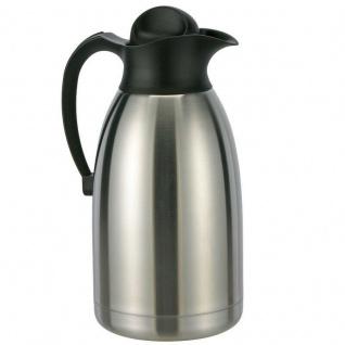 Isolierkanne 2 Ltr. Isolierflasche - Thermo Kanne Kaffeekanne Edelstahl Haushalt
