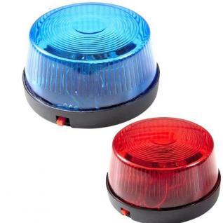 Polizei Led Blau-Licht oder Rot-Licht mit SIRENEN SOUND Signal Warn Leuchte