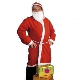 TOP SET Nikolaus Weihnachtsmann Mantel mit Bart Kapuze und Gürtel