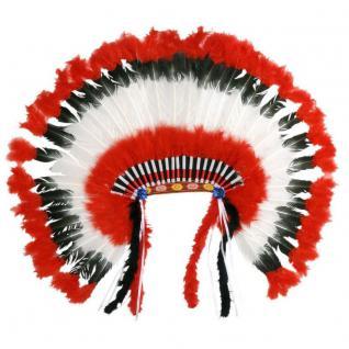 XXL Federhaube Indianer Indianerin Kostüm Kopfschmuck Federschmuck #927