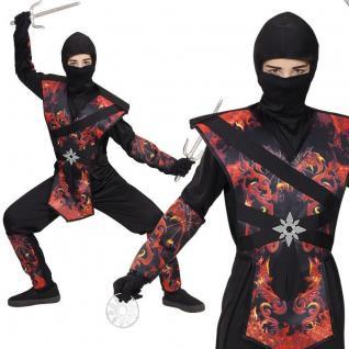 DRAGON FIRE NINJA Ninjago edles Kinder Kostüm Samurai Jungen Karneval Fasching