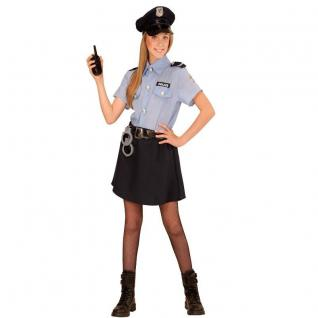 POLIZEI MÄDCHEN Police Girl Kinder Kostüm - Größe 128 - Polizistin Cop # 4006