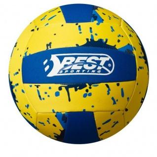 Beachball Neopren Ball Beach VOLLEYBALL Ø 21cm Strandball Wasserball gelb #212