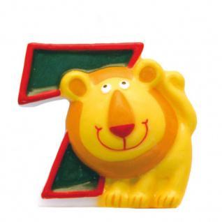 Kerze 7 Safari Tiere - Geburtstagskerze - Dschungel - Zahlenkerze Kinder Motive