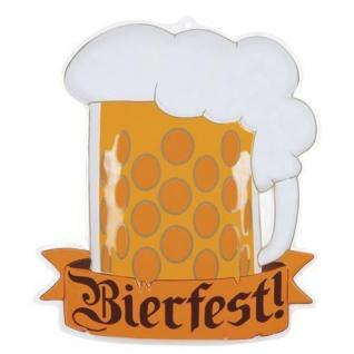 Tür und Wand Deko Oktoberfest Bierfest 67 x 55 cm 3 D Schild Biergarten