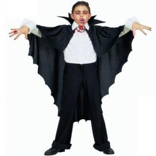 KINDER VAMPIR UMHANG Dracula Cape Vampirumhang Kostüm Halloween 3582p