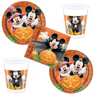 52 tlg. Micky Maus HALLOWEEN Party Set 16 x Becher 16 x Teller 20 x Servietten