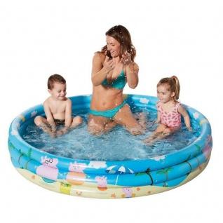 Peppa Pig Peppa Wutz Kinder Planschbecken Pool Swimmingpool 122 x 23 cm rund