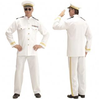 NAVY KAPITAIN Captain Marine Offizier Herren Kostüm Matrose - Karneval Fasching