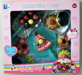 Kinder Kuchen 22tlg Spielset mit Torte Donut Muffins Spielküche Lebensmittel