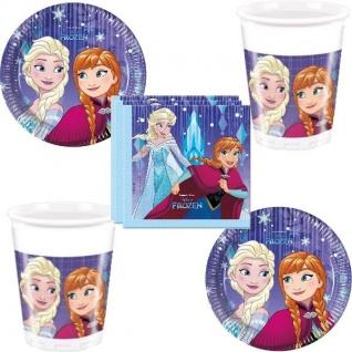 EISKÖNIGIN Disney Frozen Party Set 2 Becher Servietten Pappteller Party Deko