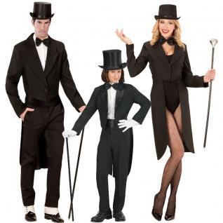 FRACK schwarz Partner Kostüm Damen Herren Kinder - Show Hochzeit Karneval JGA