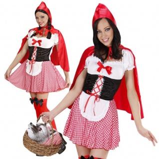 Sexy Rotkäppchen Damen Kostüm Gr. XL 46/48 Rotkäpchen Märchen Wolf #7058