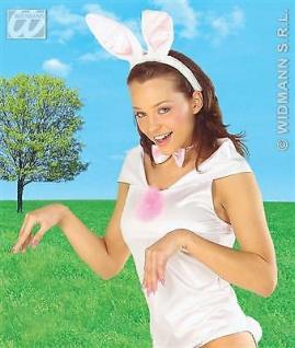 BUNNYKOSTÜM SET Hasenkostüm Bunny Hasen Damen Kostüm Party Verkleidung