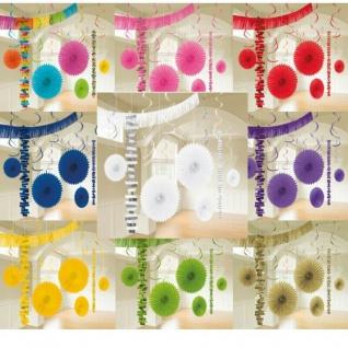 18-tlg. XL Party Deko Set Geburtstag Hochzeit Feier Raum-Deko - freie Farbwahl