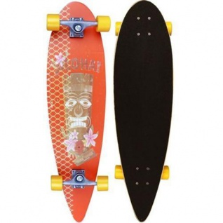"Longboard 39"" ABEC 7 Kugellager Long Board Skateboard Streetsurfer 52OR-ORG"