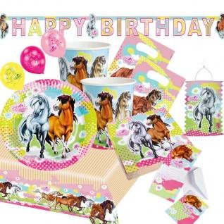 Charming Horses 2* Kinder Geburtstags Party - Deko Geburtstag - Set