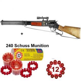 Utah 12-Schuss Western Gewehr 756mm mit 240 Schuss Munition Spielzeug Cowboy